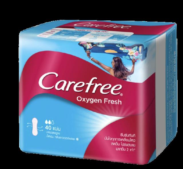 แคร์ฟรี แผ่นอนามัย Oxygen Fresh 1