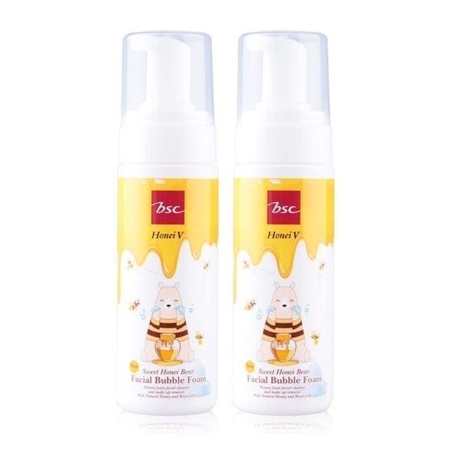 BSC  มูสล้างหน้า Honei V Sweet Honei Bear Facial Bubble Foam 1