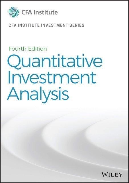 CFA Institute หนังสือเตรียมสอบ CFA Quantitative Investment Analysis (CFA Institute Investment Series) 4th Edition 1