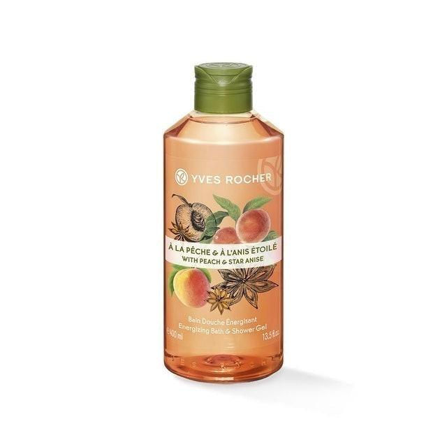 Yves Rocher  Energizing Peach Star Anise Shower Gel  1