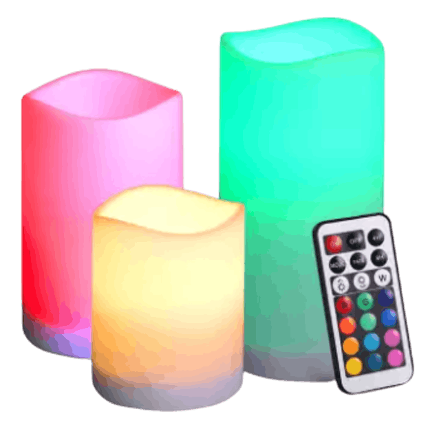 ORIA  ชุดเทียน LED Multi-Color 3 ชิ้น 1