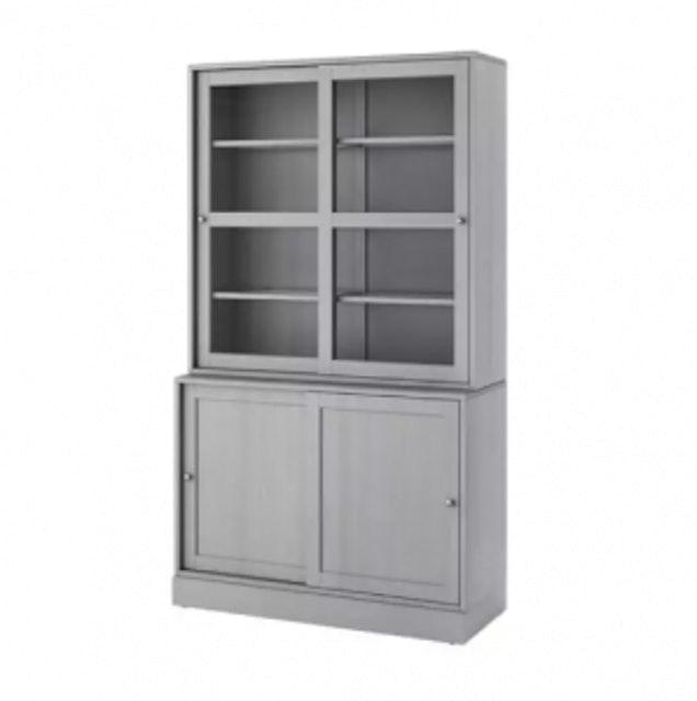 IKEA ตู้ติดผนัง ชุดตู้บานเลื่อนกระจก รุ่น ฮาฟสต้า (HAVSTA) 1