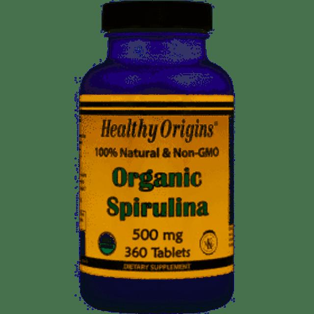 Healthy Origins สาหร่ายสไปรูลิน่า Organic Spirulina 500 mg 1