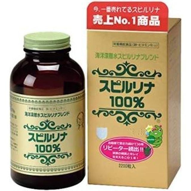Japan Algae สาหร่ายสไปรูลิน่าชนิดเม็ด Deep Ocean Water Spirulina Dietary Supplement with Protein Amino Acid and Vitamin B12 1