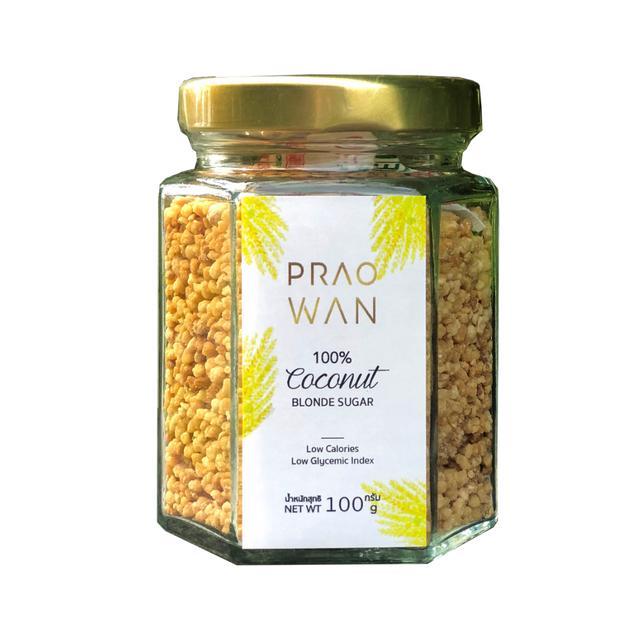 Praowan น้ำตาลดอกมะพร้าวชนิดเกล็ด 1