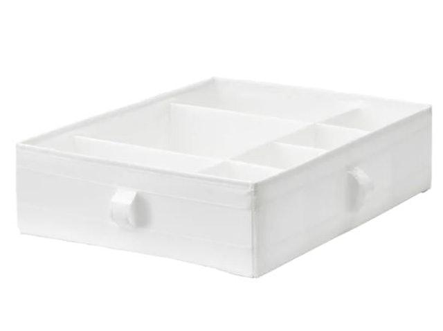 IKEA SKUBB กล่องแบ่งช่องสีขาว 1