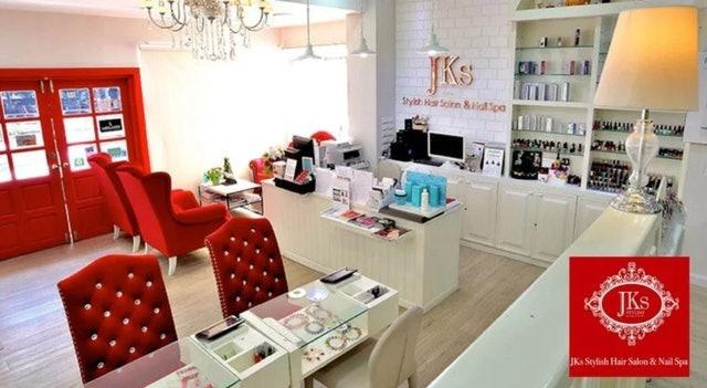 JKs Stylish Hair Salon & Nail Spa ทำเล็บเจล ทาเล็บมือเจล 1 สี 1