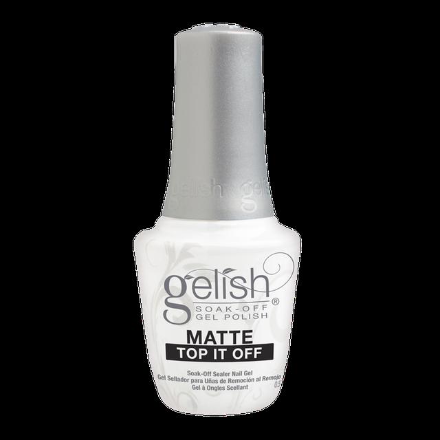 Harmony Gelish ยาทาเล็บเนื้อแมตต์ Nail Polish Top Coat รุ่น Matte Top It Off 1