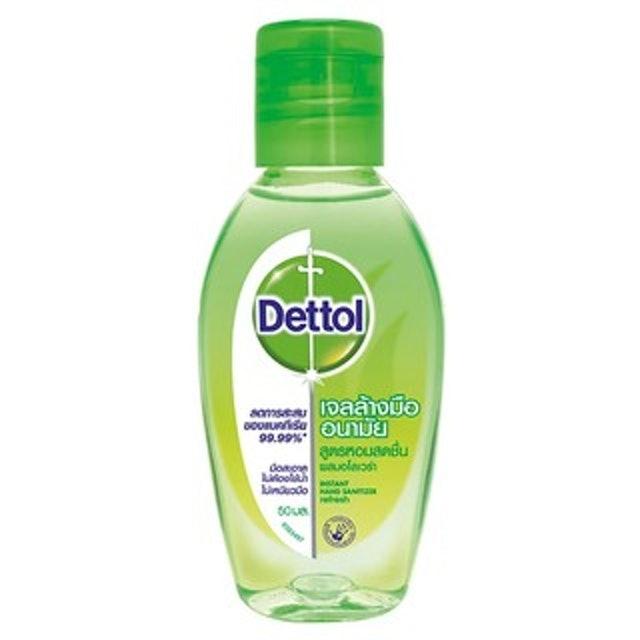 Dettol เจลล้างมือแอลกอฮอล์ Dettol สูตรหอมสดชื่นผสม Aloe Vera 1