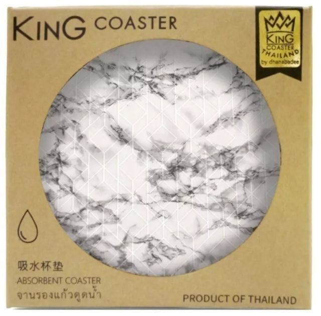 ECOTOPIA Dhanabadee Absorbent Coaster D10020 MARBLE 01 1