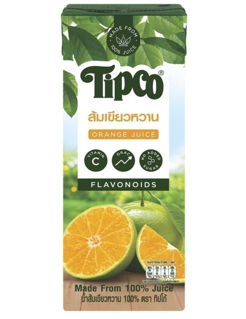 TIPCO น้ำส้มเขียวหวาน 100% 1