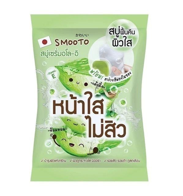 SMOOTO สบู่เซรั่ม Aloe-E Acne White Serum Soap 1