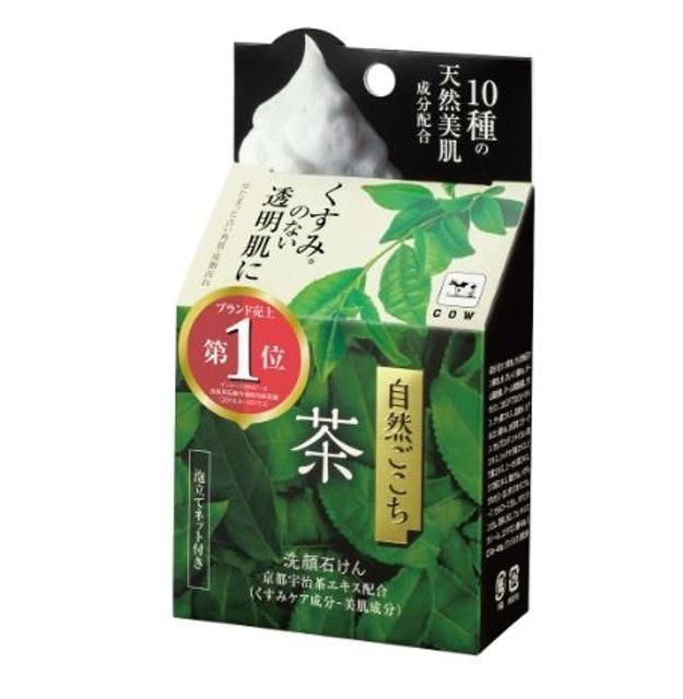 Cow Brand Shizen Gokochi Facial Cleansing Soap Green Tea 1