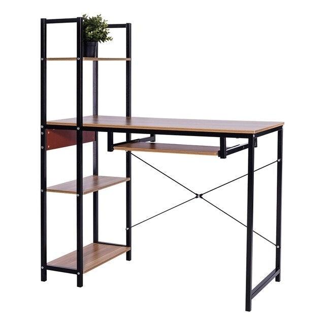 Ctrend โต๊ะคอมพิวเตอร์ พร้อมชั้นวางด้านข้าง 1