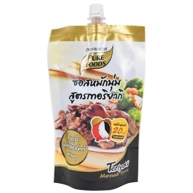 Pure Foods ซอสหมักนุ่ม สูตรเทอริยากิ แบบซอง 1