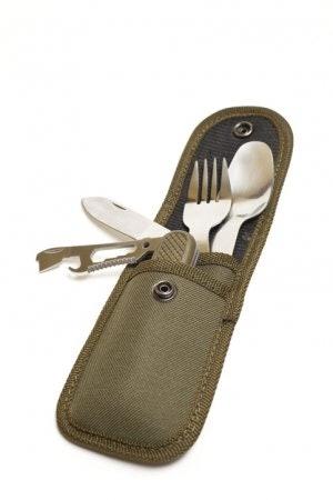เซ็ตช้อนส้อมและมีด แบบมีถุงหิ้วที่เก็บเป็นระเบียบ