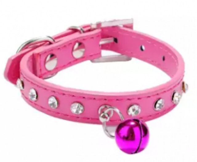 10. Tertran – Dog Collar Bling Crystal With Small Bell Necklace 1