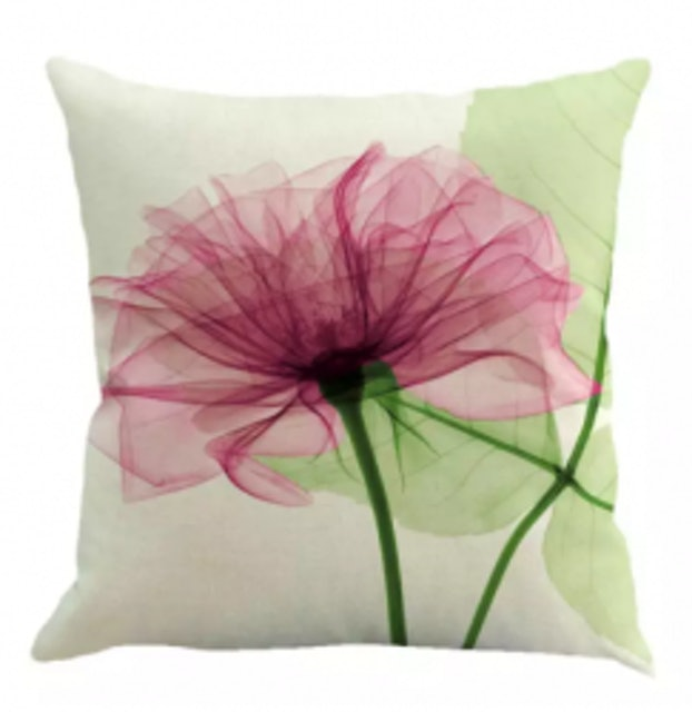 2. No Brand – Flower Linen Pillow Case 1