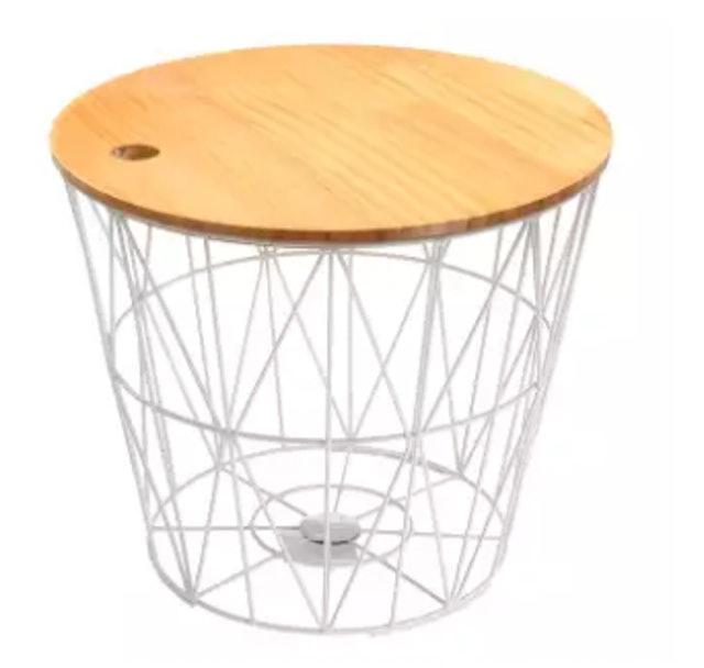 2. No Brand – White Metal Wire Basket 1