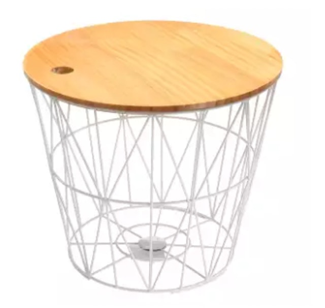 2. No Brand – White Metal Wire Basket 1