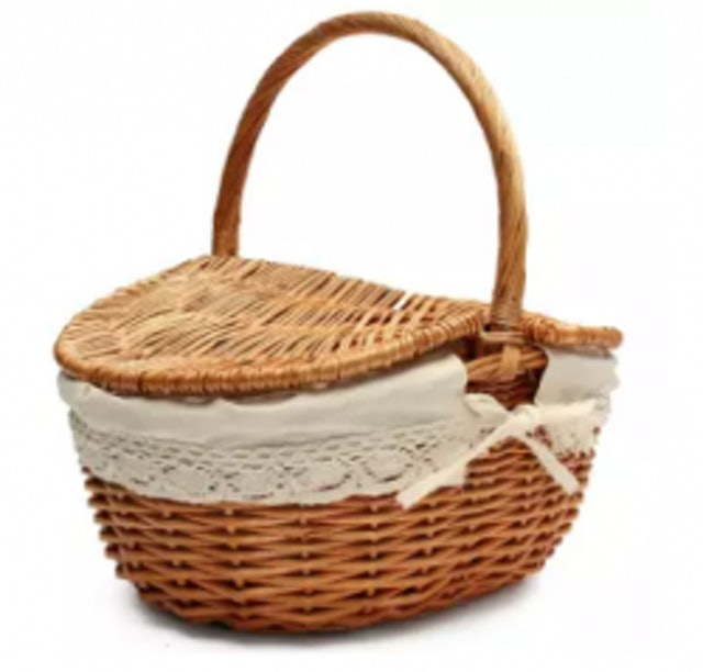 7. No Brand – Wicker Hand Picnic Storage Basket 1
